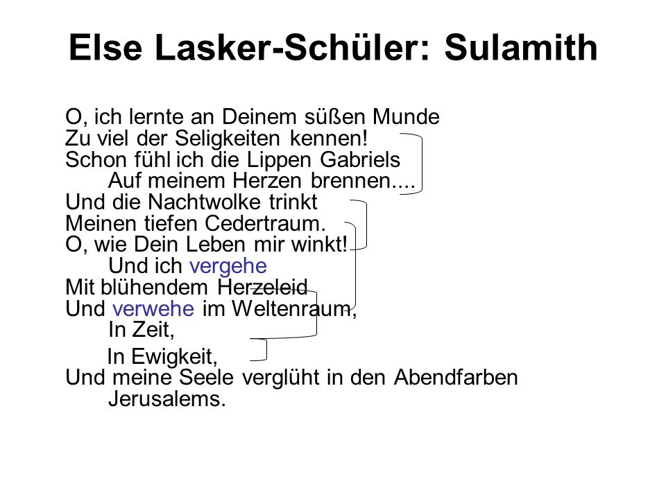 Else Lasker-Schüler: Sulamith