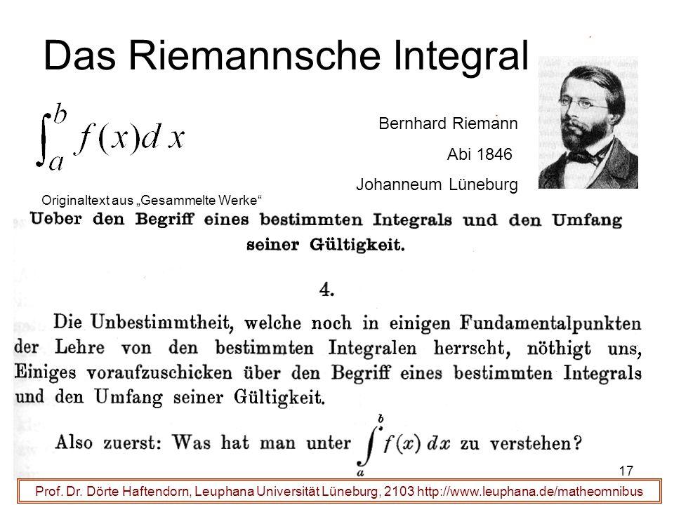 Das Riemannsche Integral