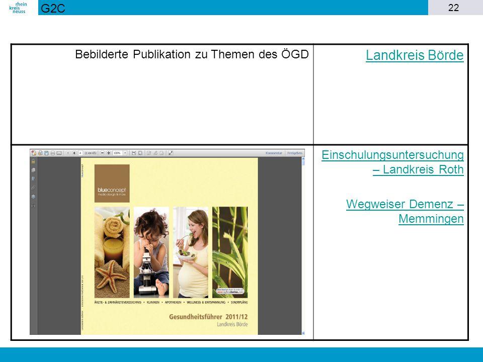 Landkreis Börde G2C Bebilderte Publikation zu Themen des ÖGD