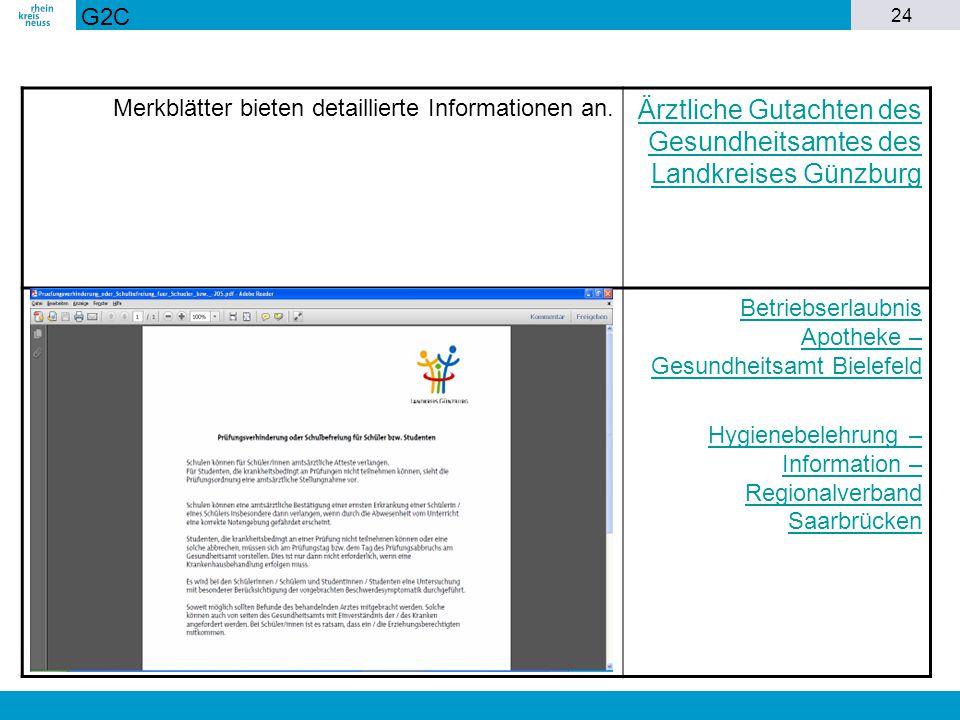 Ärztliche Gutachten des Gesundheitsamtes des Landkreises Günzburg