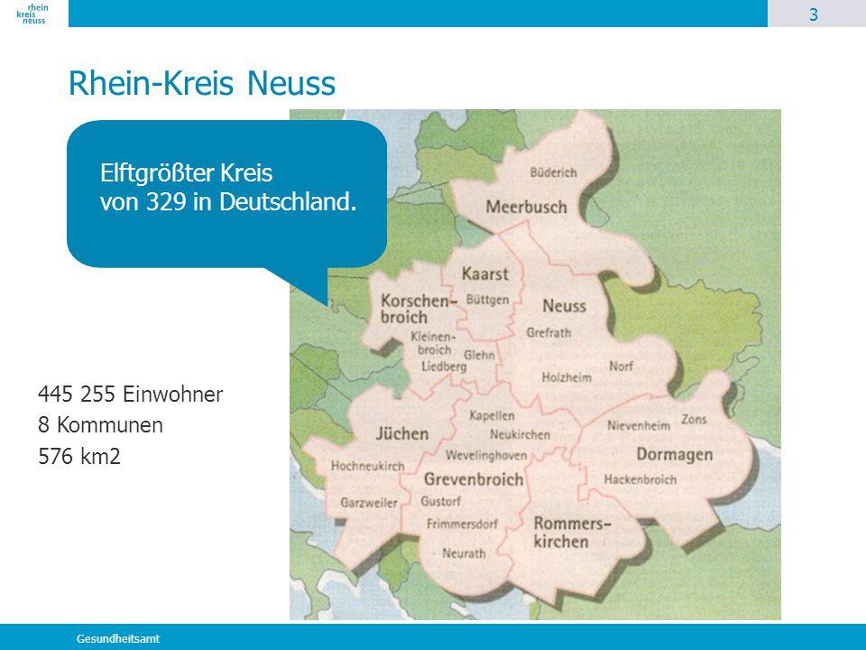 Elftgrößter Kreis von 329 in Deutschland.