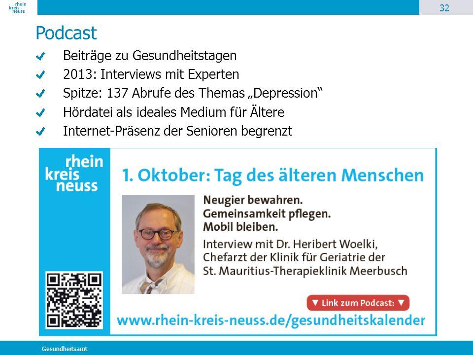 Podcast Beiträge zu Gesundheitstagen 2013: Interviews mit Experten