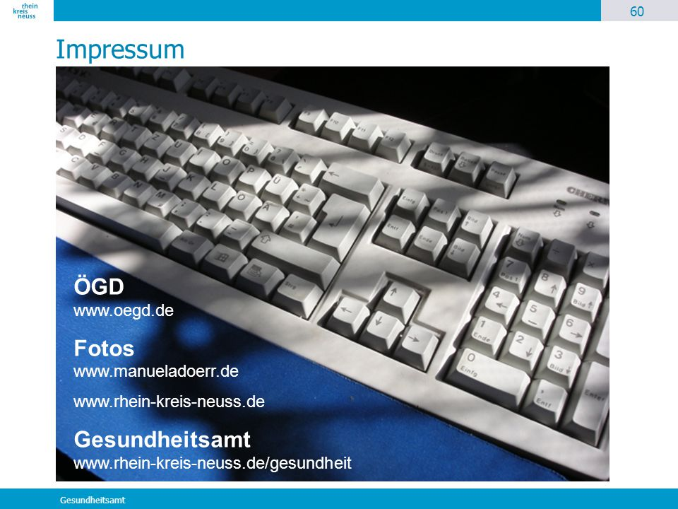 Impressum ÖGD www.oegd.de Fotos www.manueladoerr.de