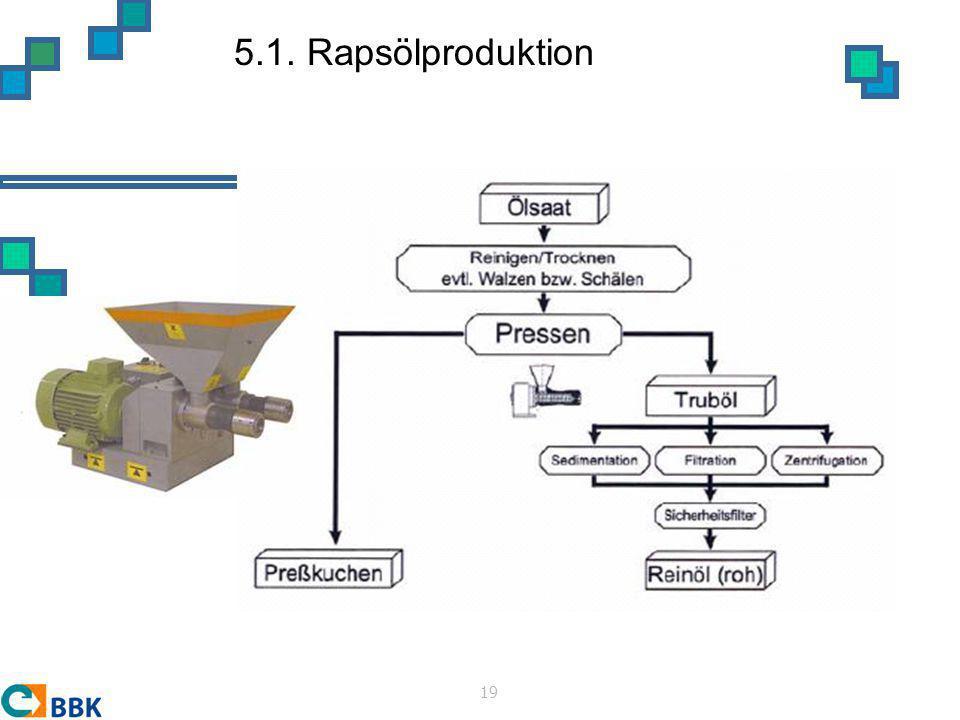5.1. Rapsölproduktion 19