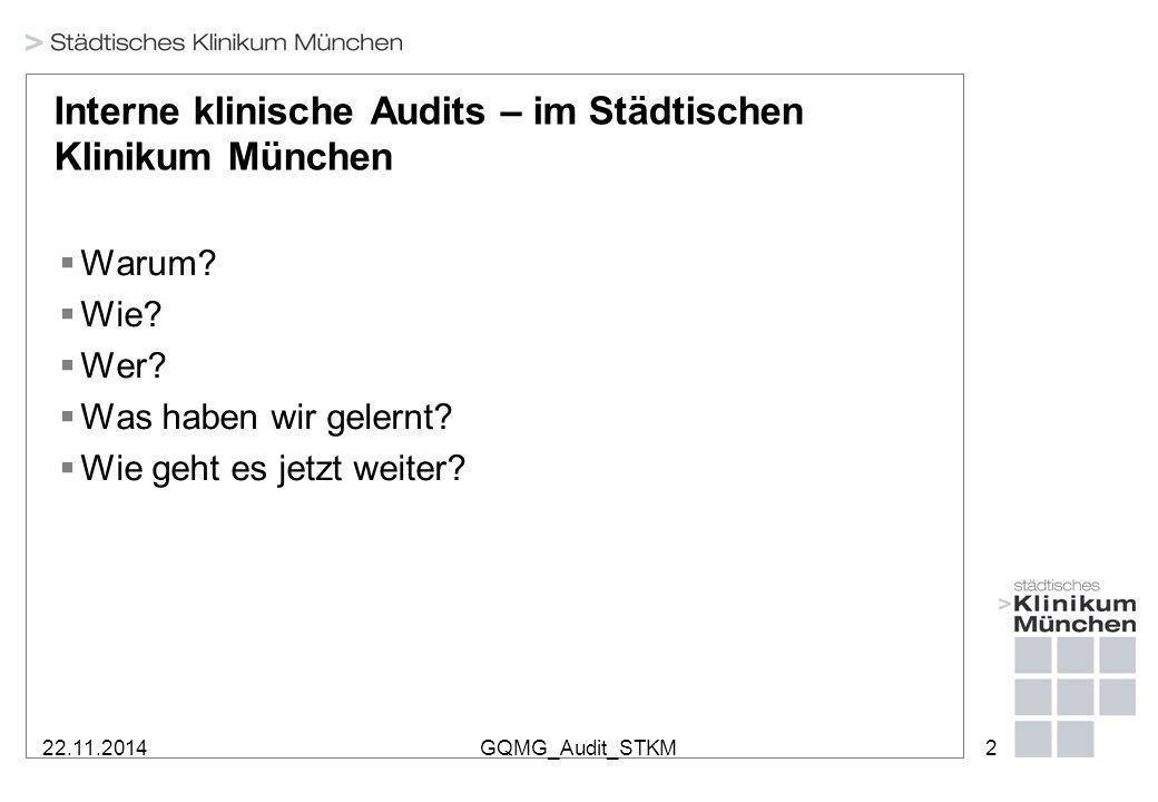 Interne klinische Audits im Städtischen Klinikum München – warum