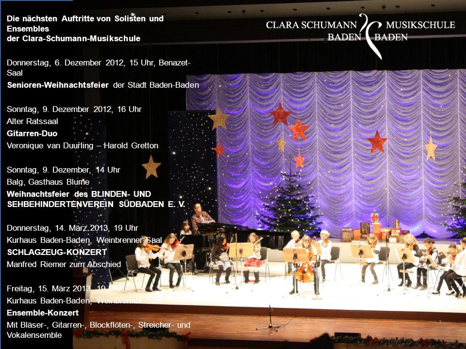Donnerstag, 6. Dezember 2012, 15 Uhr, Benazet-Saal