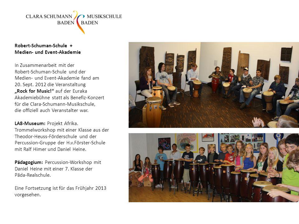 Robert-Schuman-Schule + Medien- und Event-Akademie In Zusammenarbeit mit der Robert-Schuman-Schule und der Medien- und Event-Akademie fand am 20.