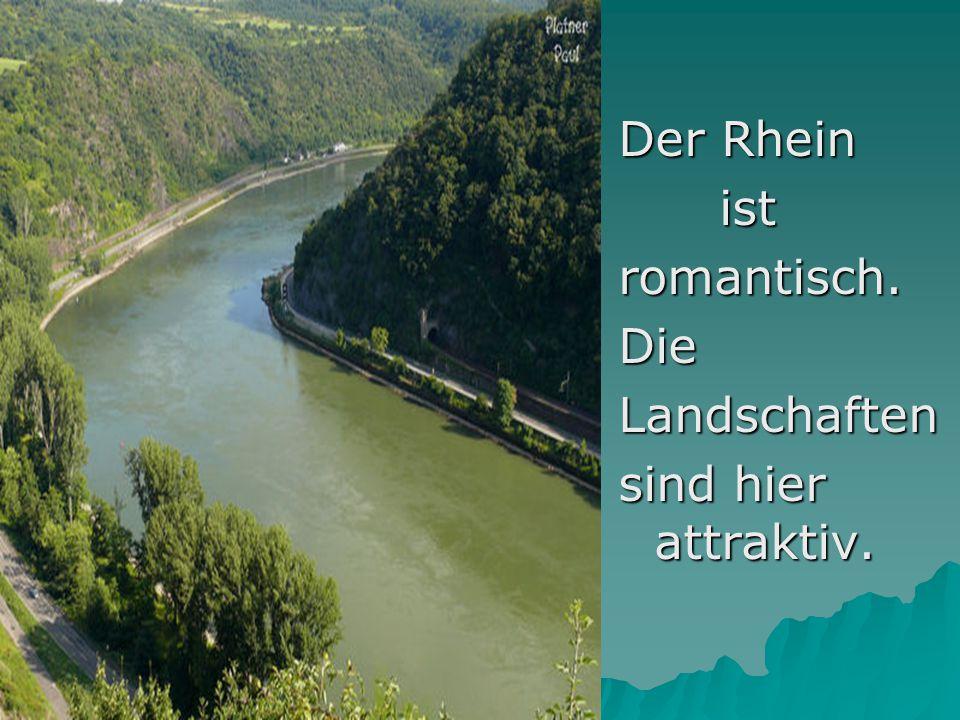 Der Rhein ist romantisch. Die Landschaften sind hier attraktiv.