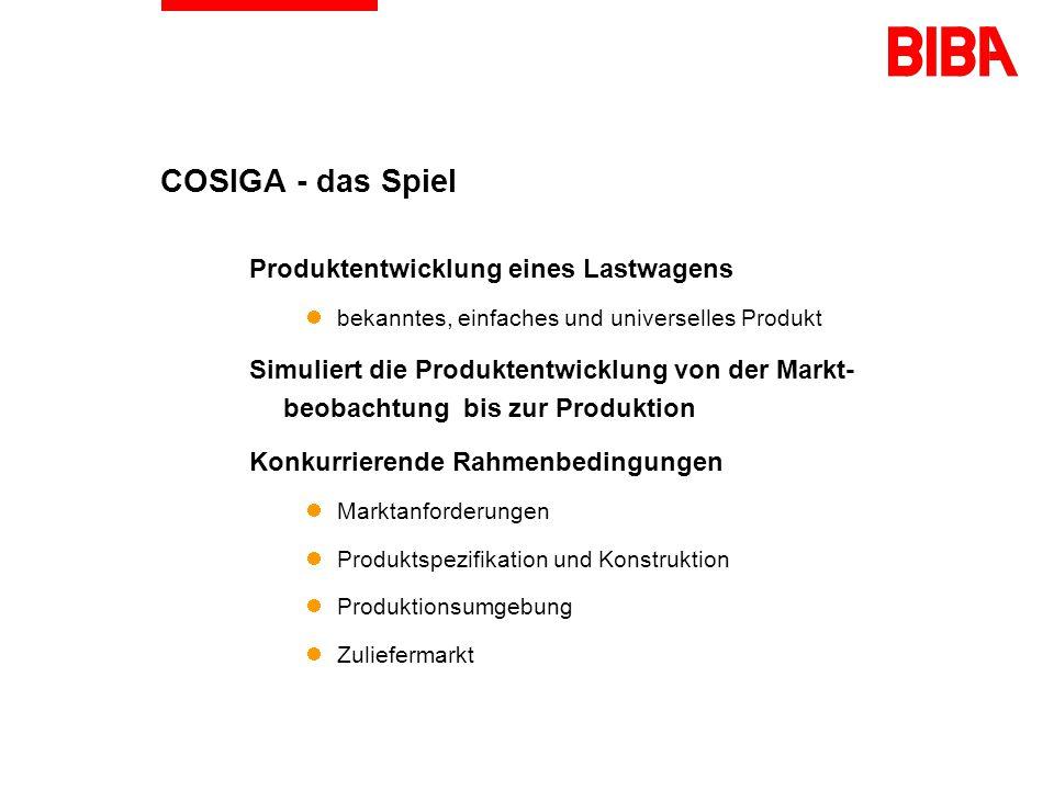 COSIGA - das Spiel Produktentwicklung eines Lastwagens