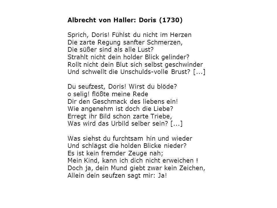 Albrecht von Haller: Doris (1730)