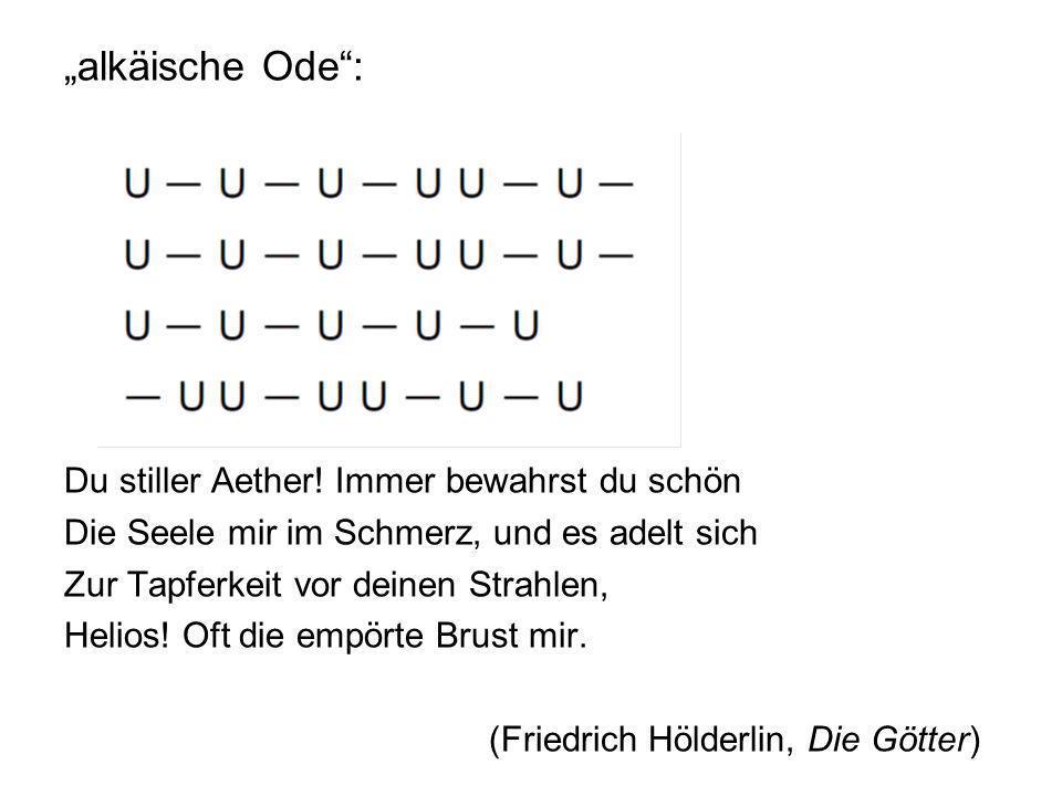 """""""alkäische Ode : Du stiller Aether"""