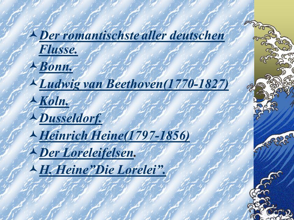 Der romantischste aller deutschen Flusse.