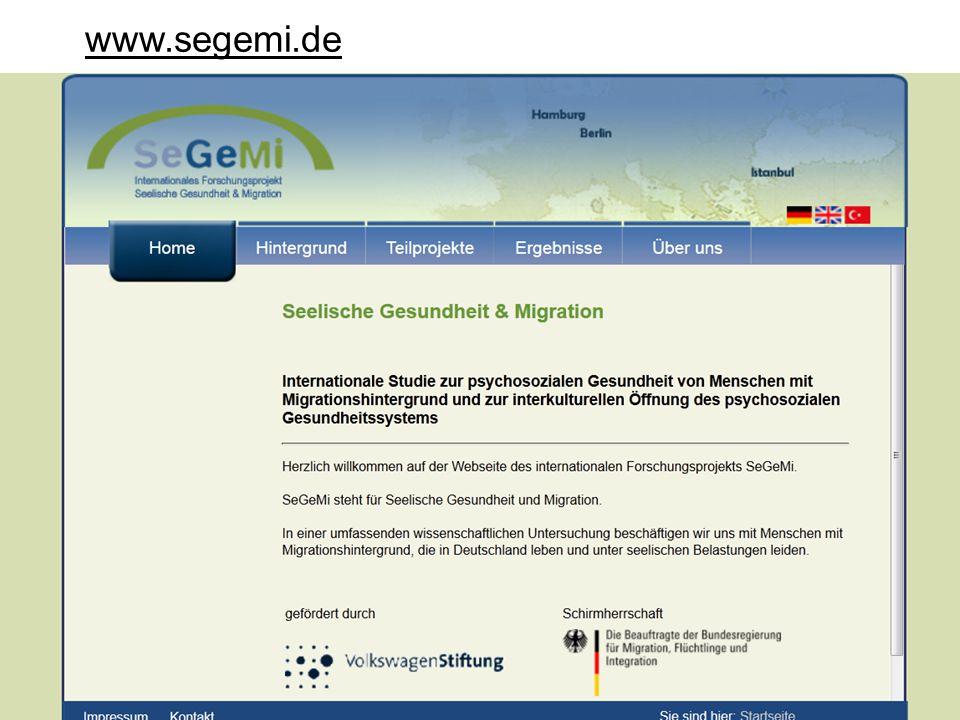 www.segemi.de Hintergrund der Tagung: Gemeinsames Forschungsprojekt SEGEMI.
