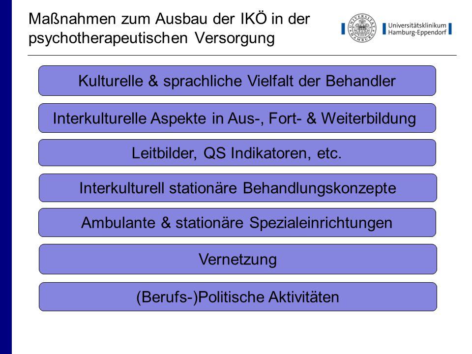 Maßnahmen zum Ausbau der IKÖ in der psychotherapeutischen Versorgung
