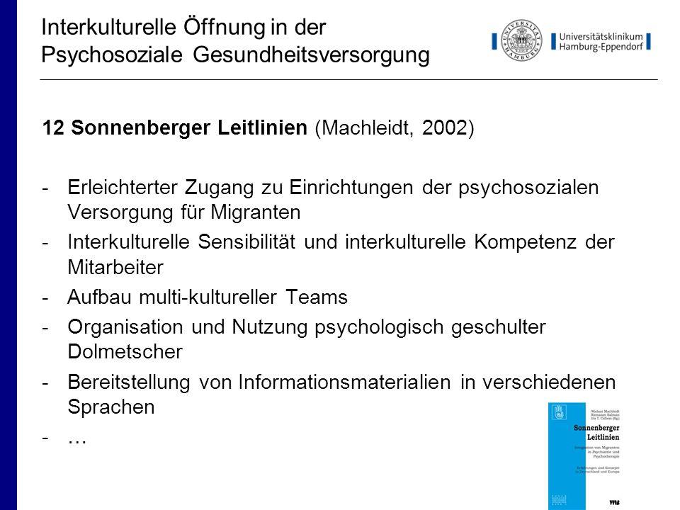 Interkulturelle Öffnung in der Psychosoziale Gesundheitsversorgung