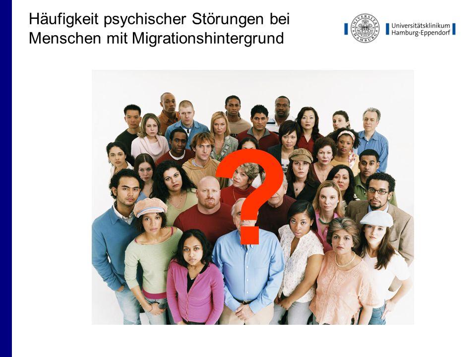 Häufigkeit psychischer Störungen bei Menschen mit Migrationshintergrund