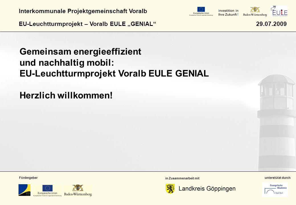 Gemeinsam energieeffizient und nachhaltig mobil: