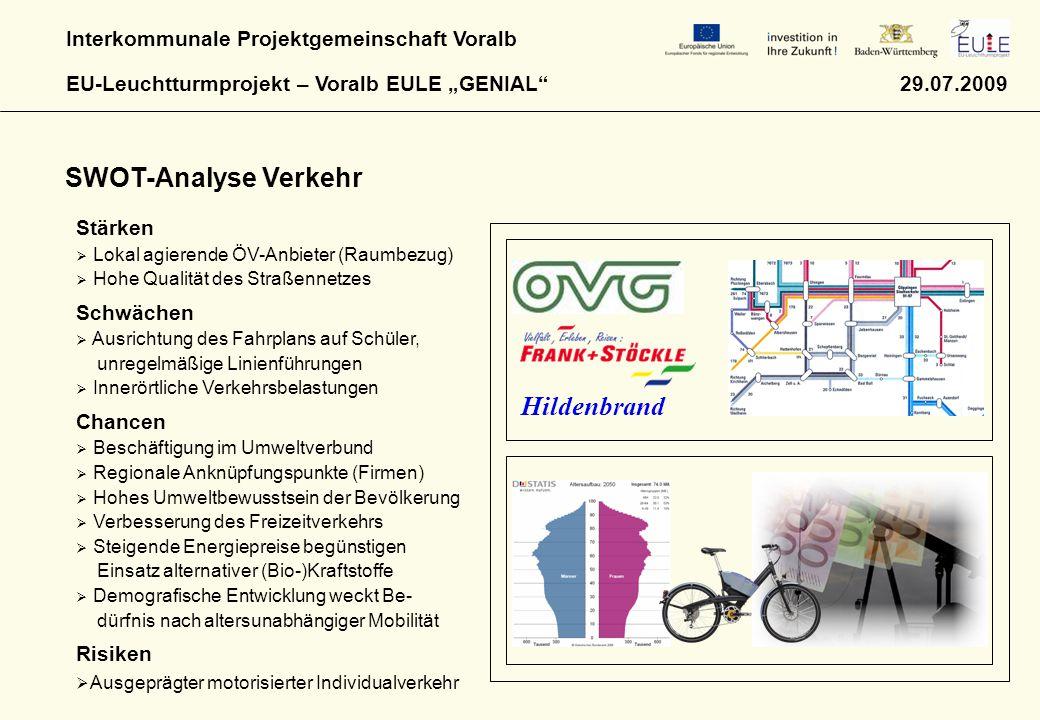 SWOT-Analyse Verkehr Hildenbrand Stärken Schwächen Chancen Risiken