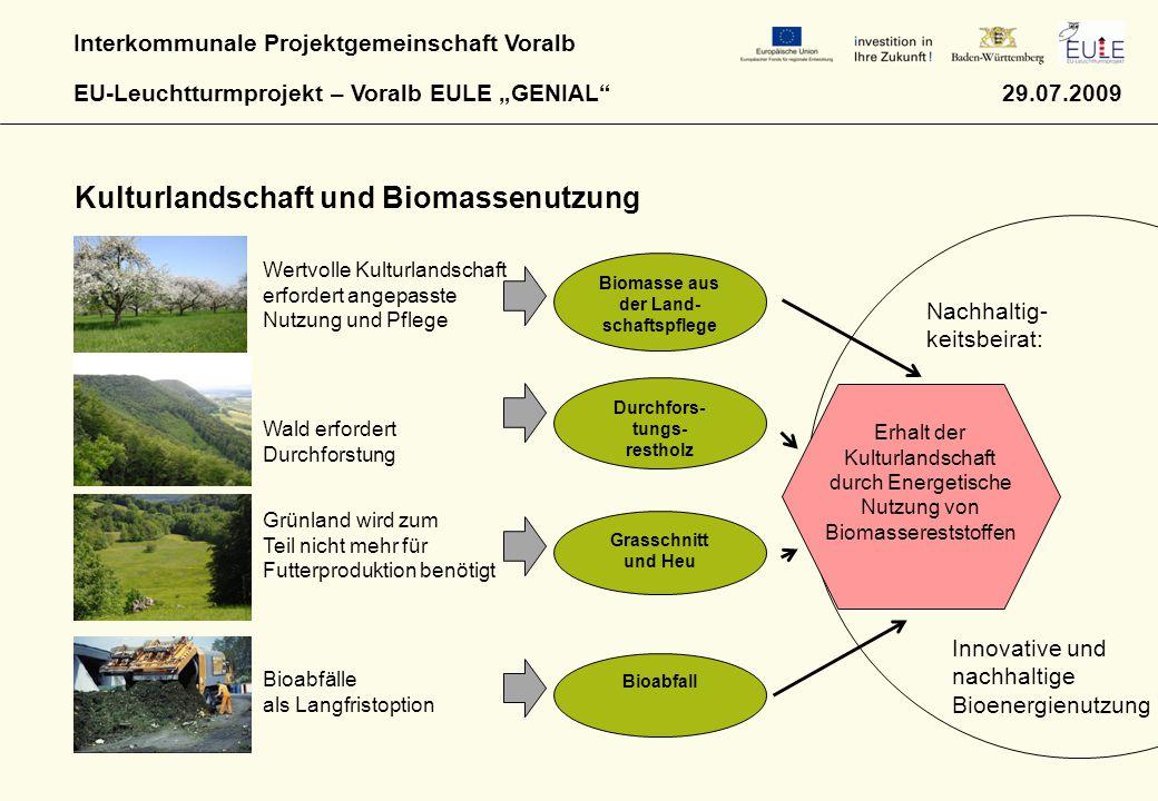 Biomasse aus der Land-schaftspflege