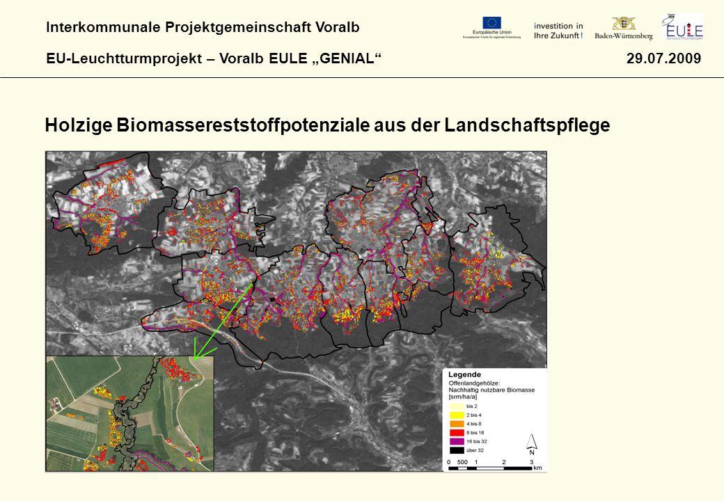 Holzige Biomassereststoffpotenziale aus der Landschaftspflege