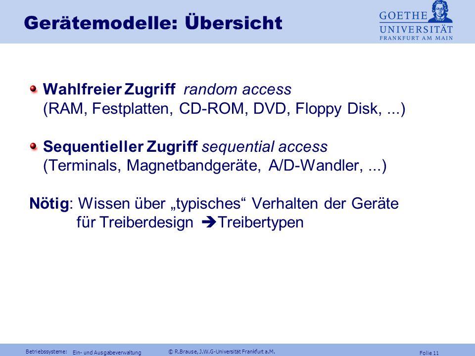 Gerätemodelle: Übersicht