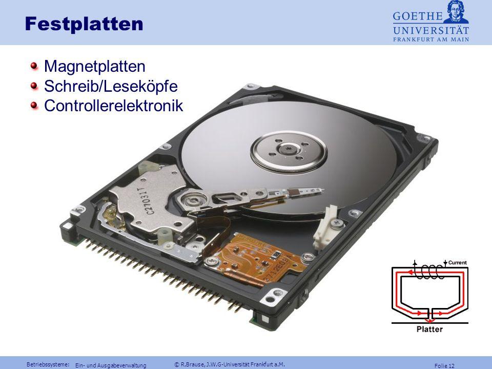 Festplatten Magnetplatten Schreib/Leseköpfe Controllerelektronik
