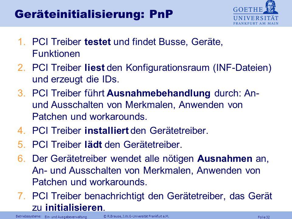 Geräteinitialisierung: PnP