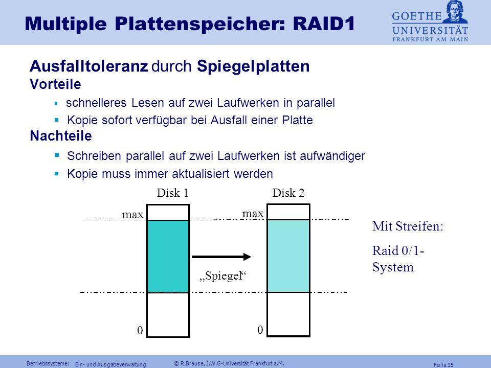Multiple Plattenspeicher: RAID1