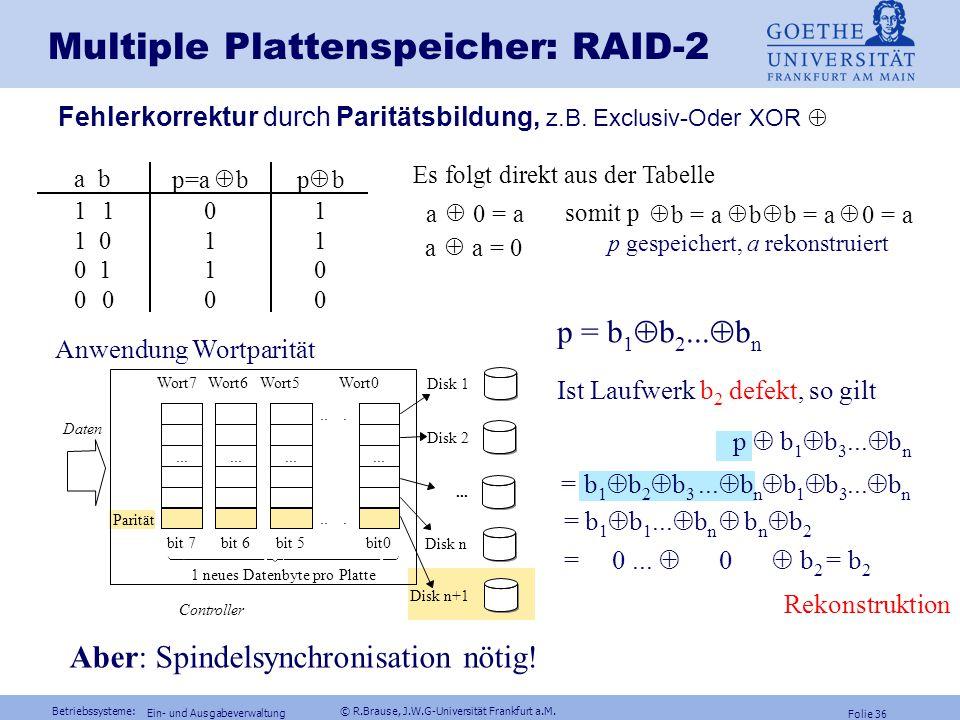 Multiple Plattenspeicher: RAID-2