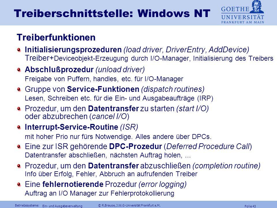 Treiberschnittstelle: Windows NT