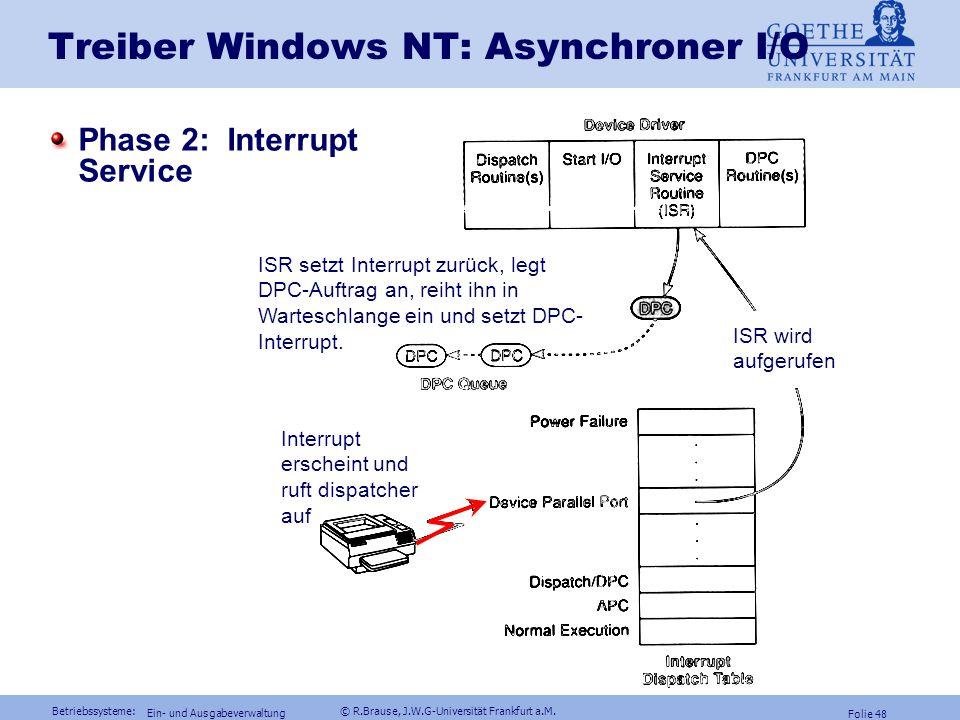 Treiber Windows NT: Asynchroner I/O