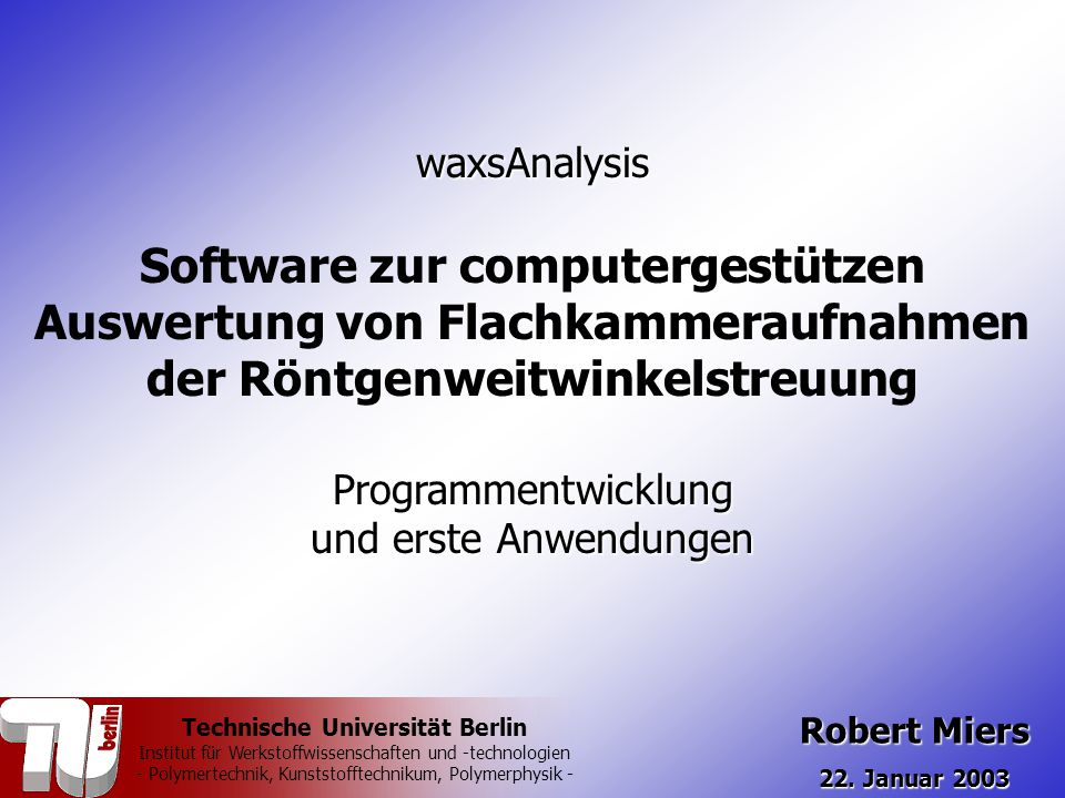 Software zur computergestützen