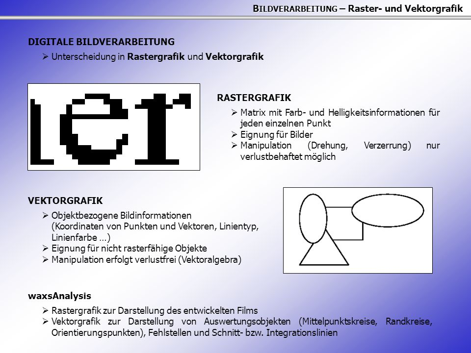 BILDVERARBEITUNG – Raster- und Vektorgrafik