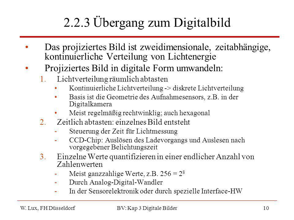 2.2.3 Übergang zum Digitalbild