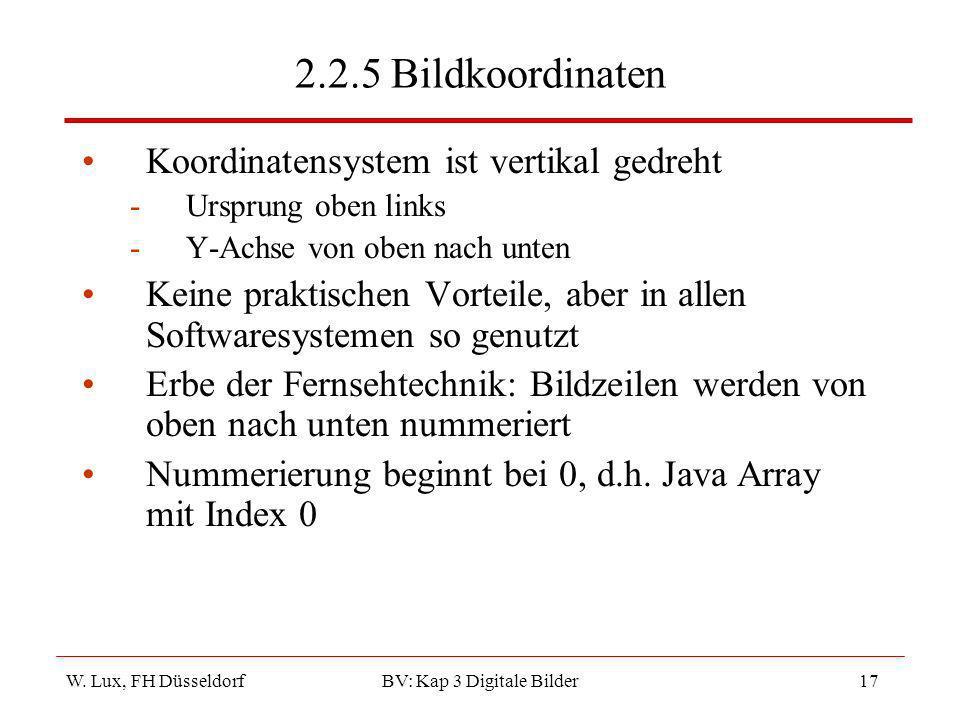 BV: Kap 3 Digitale Bilder