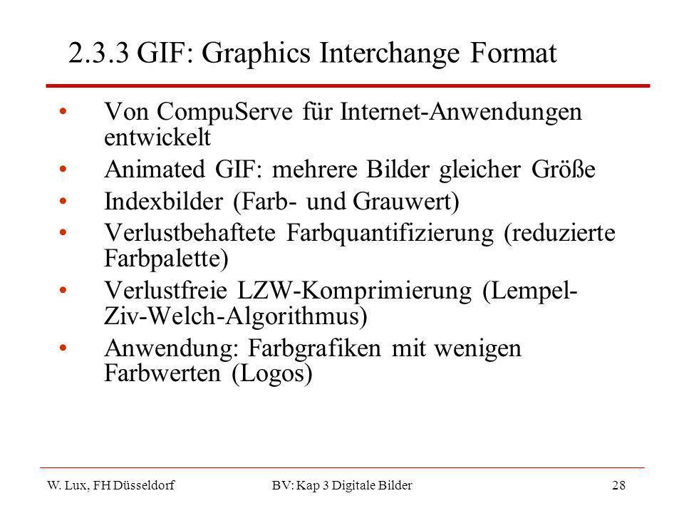 2.3.3 GIF: Graphics Interchange Format