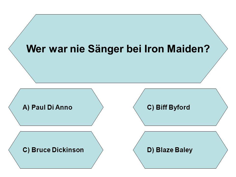 Wer war nie Sänger bei Iron Maiden