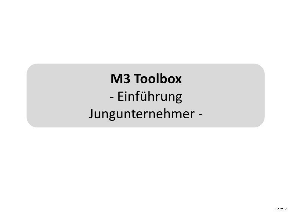M3 Toolbox - Einführung Jungunternehmer -