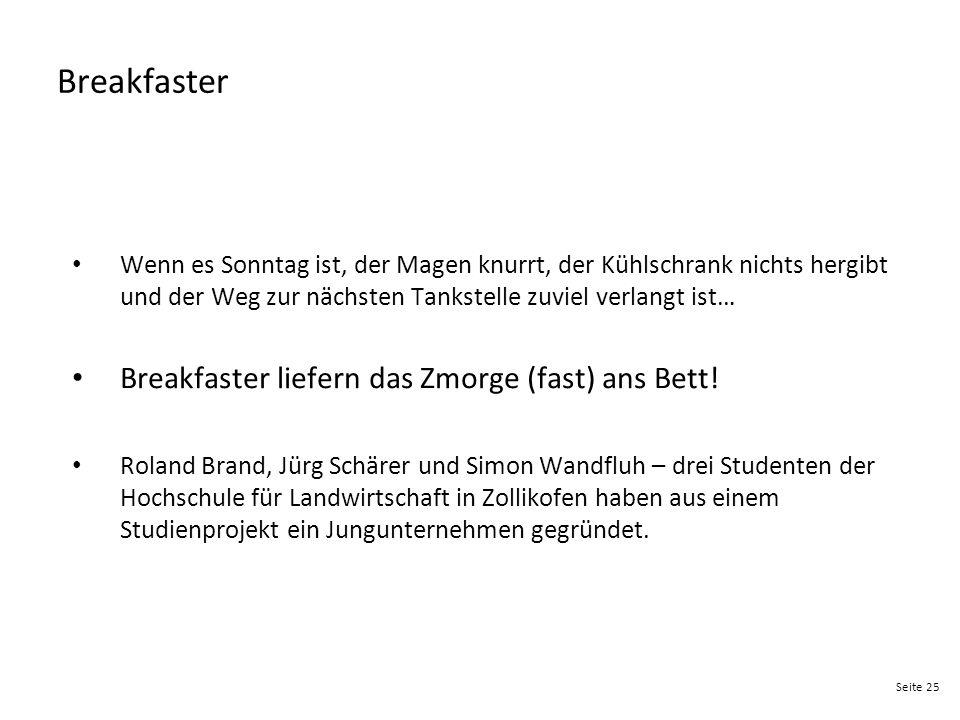Breakfaster Breakfaster liefern das Zmorge (fast) ans Bett!