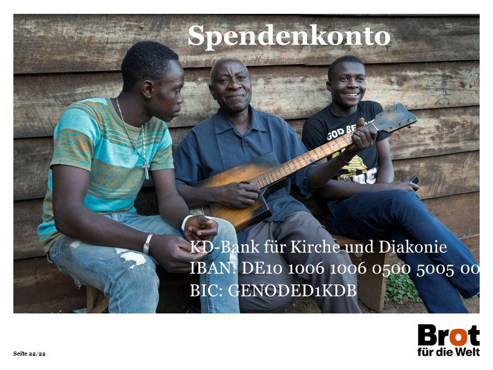 Spendenkonto KD-Bank für Kirche und Diakonie