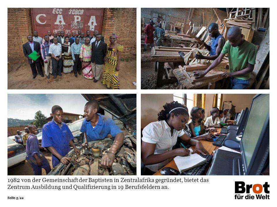 1982 von der Gemeinschaft der Baptisten in Zentralafrika gegründet, bietet das Zentrum Ausbildung und Qualifizierung in 19 Berufsfeldern an.