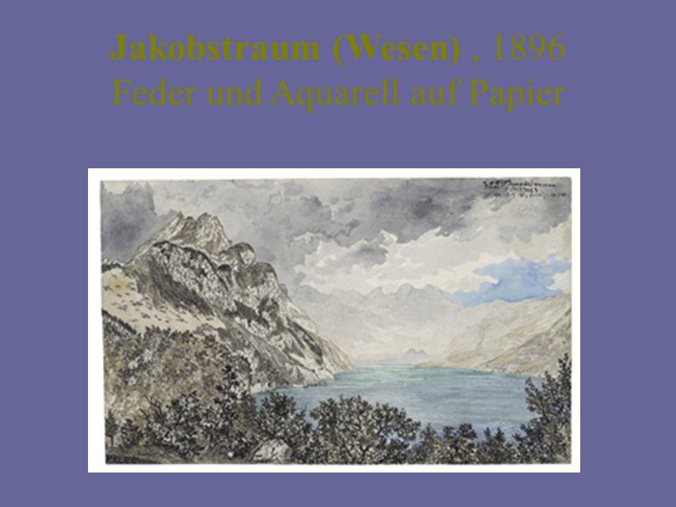 Jakobstraum (Wesen) , 1896 Feder und Aquarell auf Papier