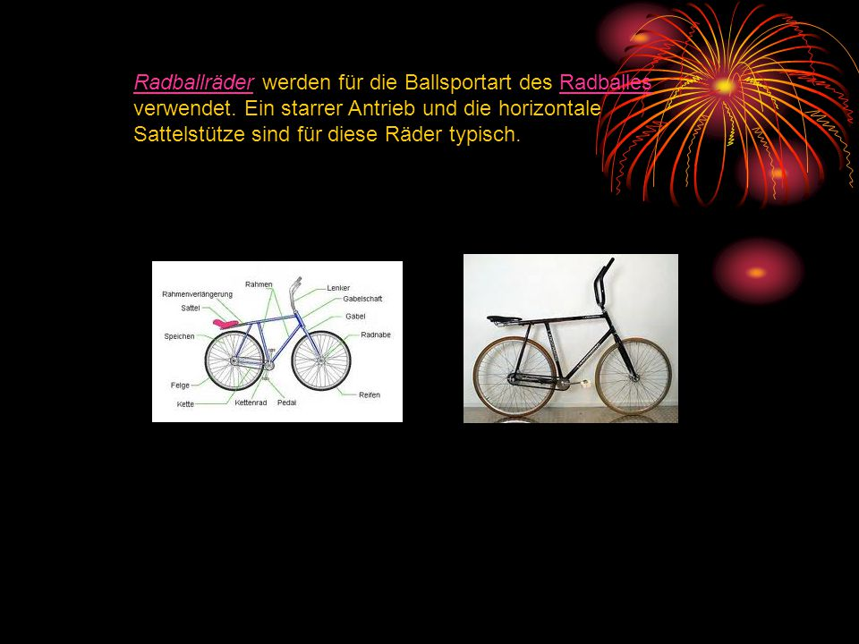 Radballräder werden für die Ballsportart des Radballes verwendet