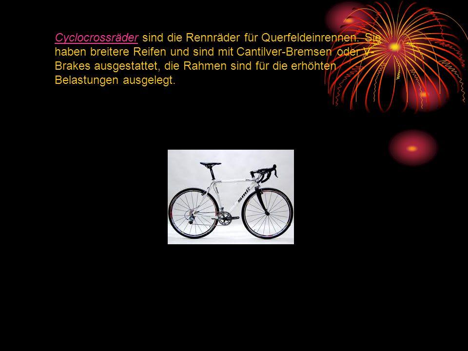Cyclocrossräder sind die Rennräder für Querfeldeinrennen