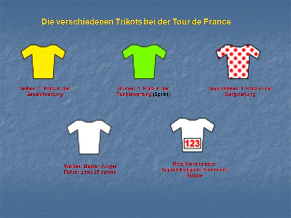 Die verschiedenen Trikots bei der Tour de France