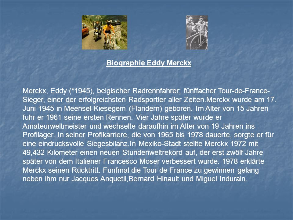 Biographie Eddy Merckx