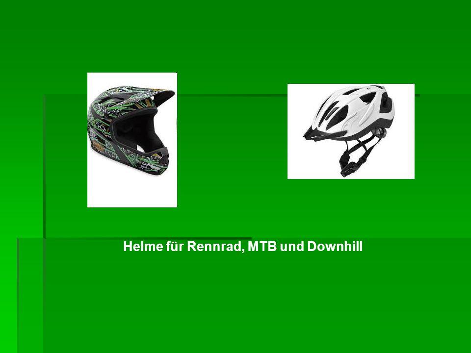 Helme für Rennrad, MTB und Downhill