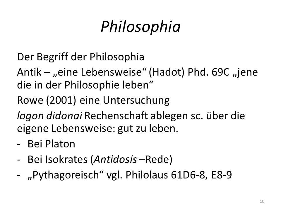 Philosophia Der Begriff der Philosophia