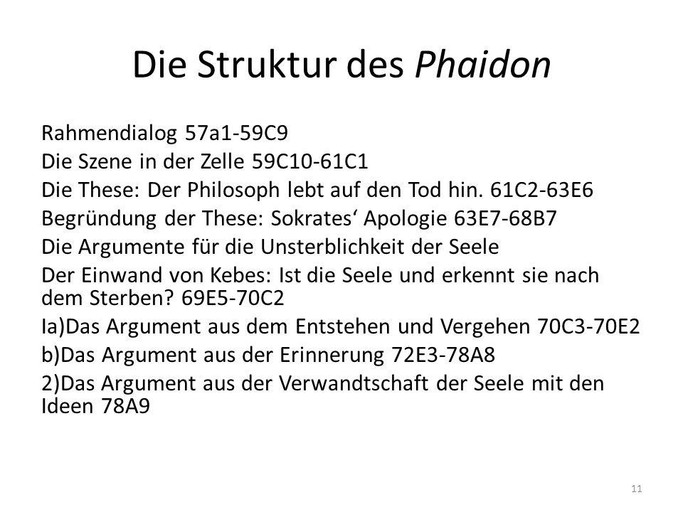Die Struktur des Phaidon