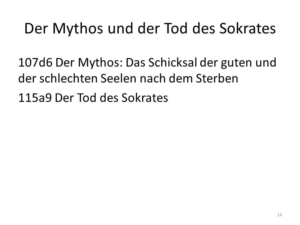 Der Mythos und der Tod des Sokrates